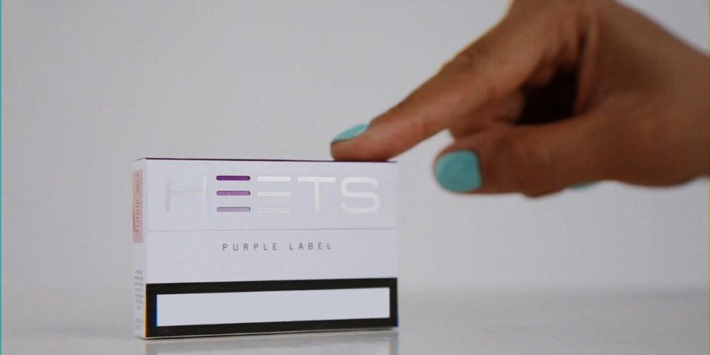 Фиолетовые стики iqos heets